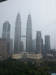 Rainy day, but view from the room!