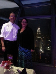 At the KL tower rotating restaurant