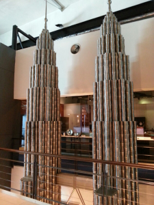 Pewter KLCC towers- this two stories tall.