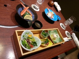 Japanese style Dinner with Izumi-chan