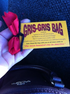 Gris Gris bag to keep us safe during the tour