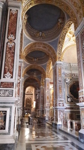 This Cathedral has been restored and many places are bare waiting for their commissioned frescoes to be completed.