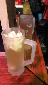 And the photos ended after this apple drink and the Grog behind it.